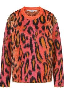 Пуловер с круглым вырезом и принтом Stella McCartney