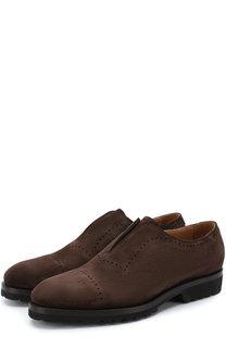 Кожаные ботинки без шнуровки Kiton