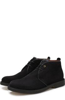 Высокие кожаные ботинки на шнуровке Ermenegildo Zegna