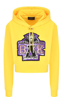 Хлопковый пуловер с капюшоном Balmain x Beyoncé Balmain