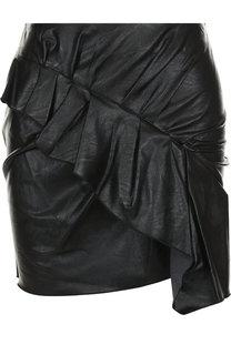 Однотонная мини-юбка с оборкой на молнии Isabel Marant Etoile