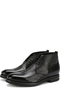 Кожаные ботинки с внутренней отделкой из овчины H`D`S`N Baracco