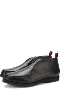 Кожаные ботинки без шнуровке с внутренней меховой отделкой Kiton