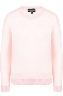 Вязаный пуловер с круглым вырезом Emporio Armani