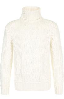 Шерстяной свитер крупной вязки с воротником-стойкой Paul&Shark