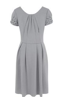 Однотонное шерстяное мини-платье Giorgio Armani