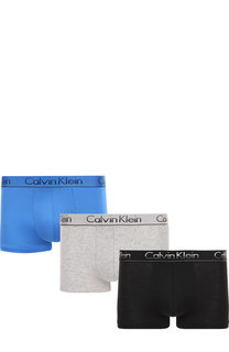 Комплект из трех хлопковых боксеров с широкой резинкой Calvin Klein Underwear