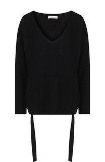 Кашемировый пуловер свободного кроя с оборками Altuzarra