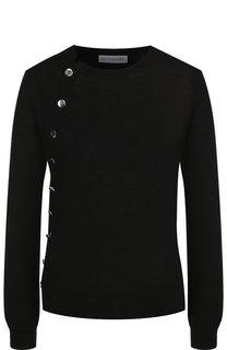 Шерстяной пуловер с контрастными пуговицами Altuzarra