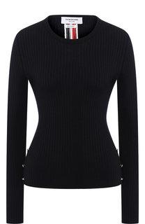 Шерстяной пуловер с круглым вырезом Thom Browne