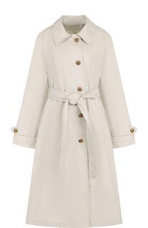 Однотонное хлопковое пальто с поясом Proenza Schouler