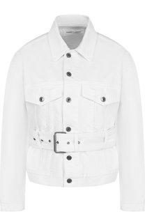 Джинсовая куртка с поясом и накладными карманами Proenza Schouler