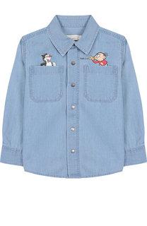 Джинсовая рубашка с аппликацией Stella McCartney