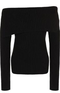 Вязаный пуловер из смеси шерсти и кашемира с открытыми плечами Pringle Of Scotland