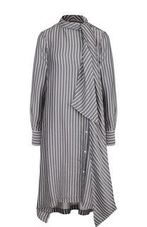 Платье-миди с воротником аскот See by Chloé