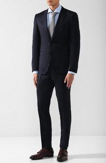 Шерстяной костюм с пиджаком на двух пуговицах HUGO