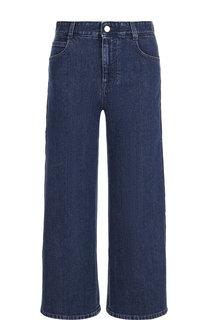 Укороченные джинсы с контрастными лампасами Stella McCartney