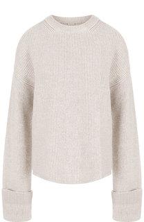 Однотонный шерстяной пуловер с разрезами на плечах Stella McCartney
