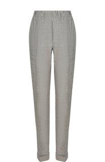 Шерстяные брюки со стрелками и отворотами Helmut Lang