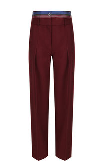 Шерстяные брюки со стрелками и завышенной талией Victoria, Victoria Beckham