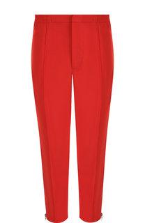 Укороченные брюки из вискозы с молниями Alexander McQueen