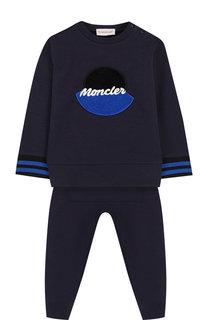 Хлопковый комплект из брюк и свитшота Moncler Enfant