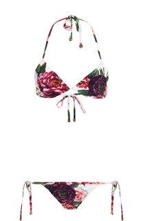 Раздельный купальник с принтом Dolce & Gabbana