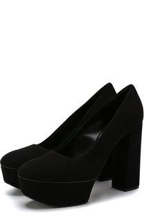 Замшевые туфли Chunky на устойчивом каблуке и платформе Casadei