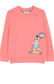 Хлопковый свитшот с принтом Fendi