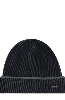 Шерстяная шапка с отворотом BOSS
