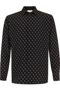 Шелковая рубашка с принтом Saint Laurent