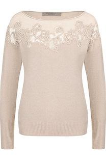 Вязаный пуловер с декоративной вышивкой D.Exterior