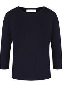Однотонный шерстяной пуловер с укороченным рукавом Cruciani