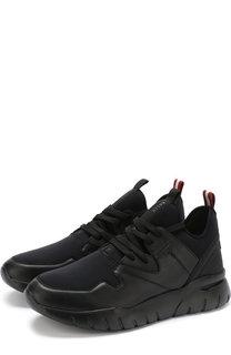 Комбинированные кроссовки на шнуровке Bally