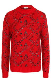 Вязаный пуловер из смеси шерсти и кашемира Saint Laurent
