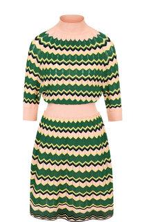 Приталенное мини-платье с воротником-стойкой M Missoni
