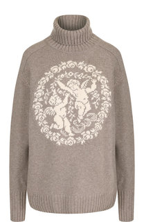 Пуловер из смеси шерсти и кашемира с воротником-стойкой Tak.Ori