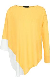Шерстяной пуловер асимметричного кроя St. John
