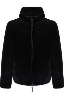 Двусторонняя меховая куртка на молнии с капюшоном Emporio Armani