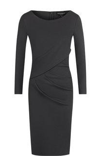 Однотонное мини-платье с драпировкой Emporio Armani