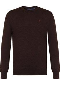 Шерстяной джемпер с логотипом бренда Polo Ralph Lauren