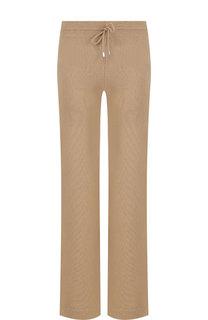 Однотонные расклешенные брюки из смеси шерсти и кашемира Tak.Ori