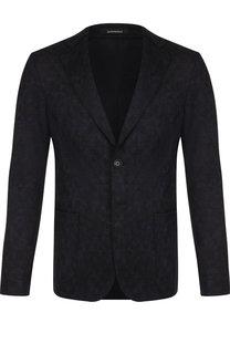 Однобортный шерстяной пиджак Emporio Armani