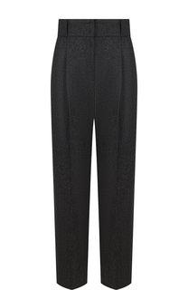 Укороченные брюки из смеси шерсти и кашемира Emporio Armani
