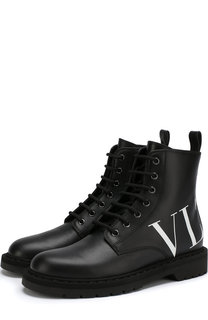 Кожаные ботинки Valentino Garavani VLTN Valentino