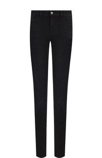 Однотонные джинсы прямого кроя Emporio Armani