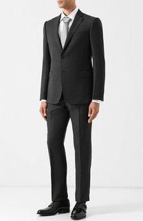 Шерстяной костюм с однобортным пиджаком Emporio Armani