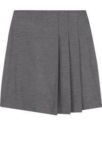 Однотонная юбка с защипами Il Gufo