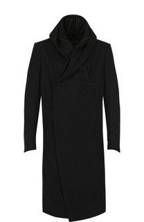 Шерстяное пальто с капюшоном Masnada