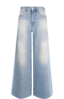 Расклешенные джинсы с потертостями Mm6